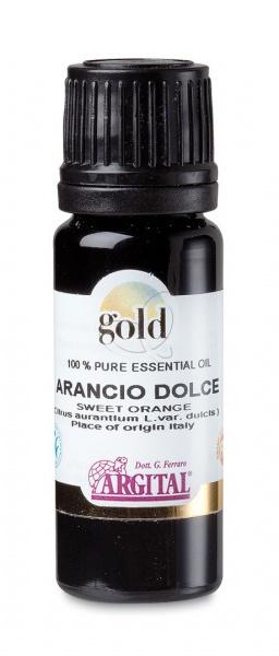 ARGITAL GOLD esenciální olej - Sladký pomeranč Objem 10 ml, fialové sklo