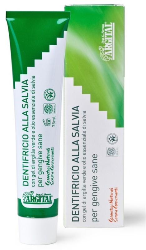 ARGITAL Zubní pasta se šalvějí a zeleným jílem Objem 75 ml