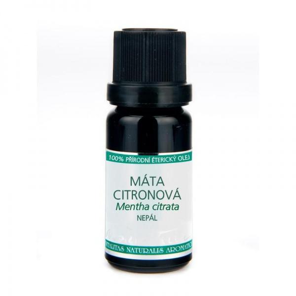 NOBILIS TILIA Éterický olej Máta citronová (levandulová) Objem 10 ml, fialové sklo
