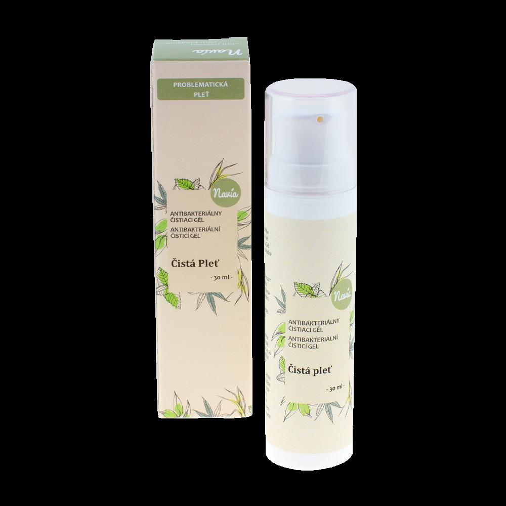 NAVIA Antibakteriální Čistící Gel Pro mastnou/problematickou pleť Objem 30 ml