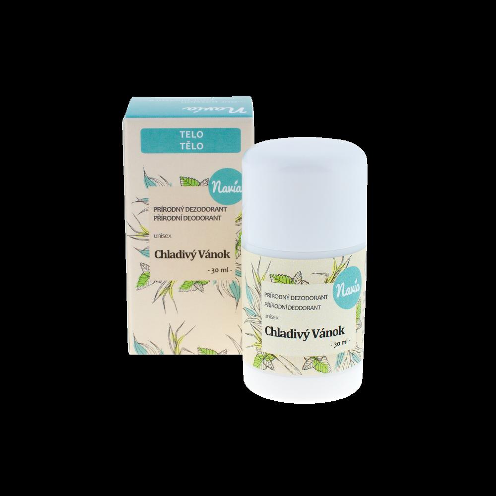 NAVIA Tuhý Deodorant Unisex Chladivý vánek Objem 30 ml