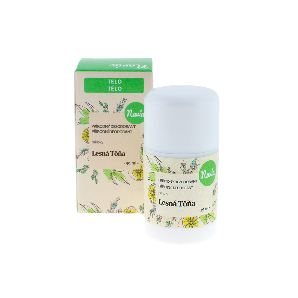 NAVIA Tuhý Deodorant Pánský Lesní tůň Objem 30 ml